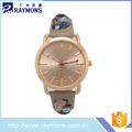 Good price of hot sale leather strap watch with certificate