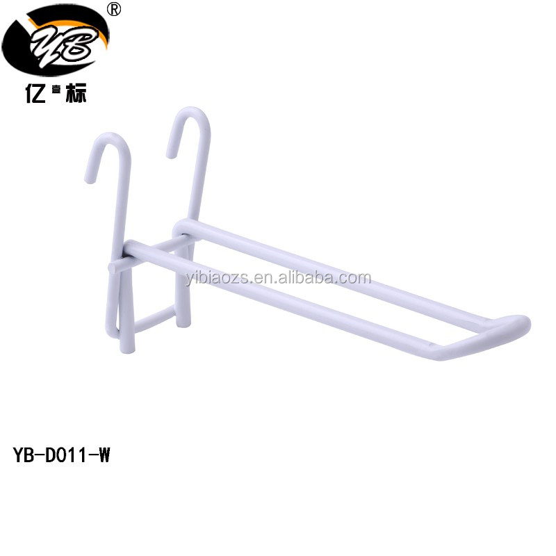 Top Quality Retail Display Hooks White Gridwall Hooks Chrome Wire ...
