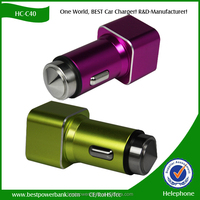 HC-C40 Wholesale mobile phone car charger Universal USB car charger for apple iPhone Android