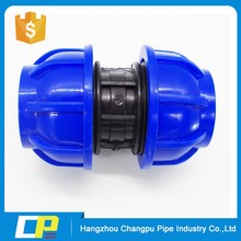 pe pp compression fittings female threaded adaptor coupling quick joint pipe fitting for water