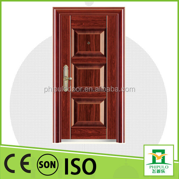 cheap price steel french apartment building entry doors used exterior from zhejiang