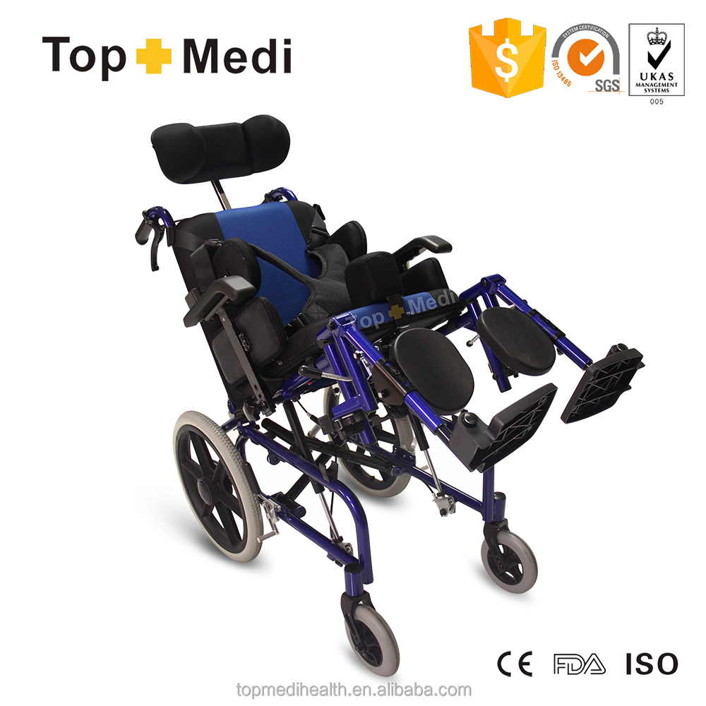 Children reclining cerebral palsy wheelchair for sale