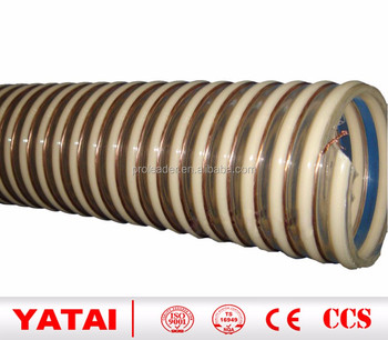 Sprial Helix Corrugated Clear PVC Suction Hose / Reinforced PVC Vacuum Delivery Hose