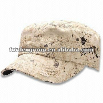 Allover Printing Flexfit Military Hat, Available in Khaki