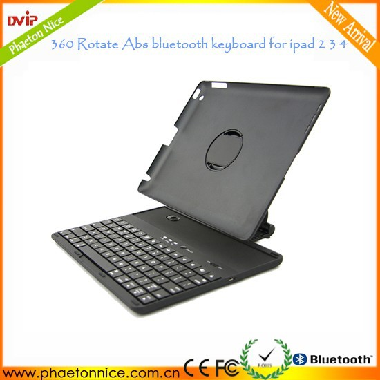 OEM 360 Degree Rotating top sale mini wireless bluetooth keyboard for iPad 2/3/4 case
