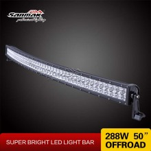 288w cree led light bar curved 50 inch led bar off road 4x4 car accessories wholesale off-road