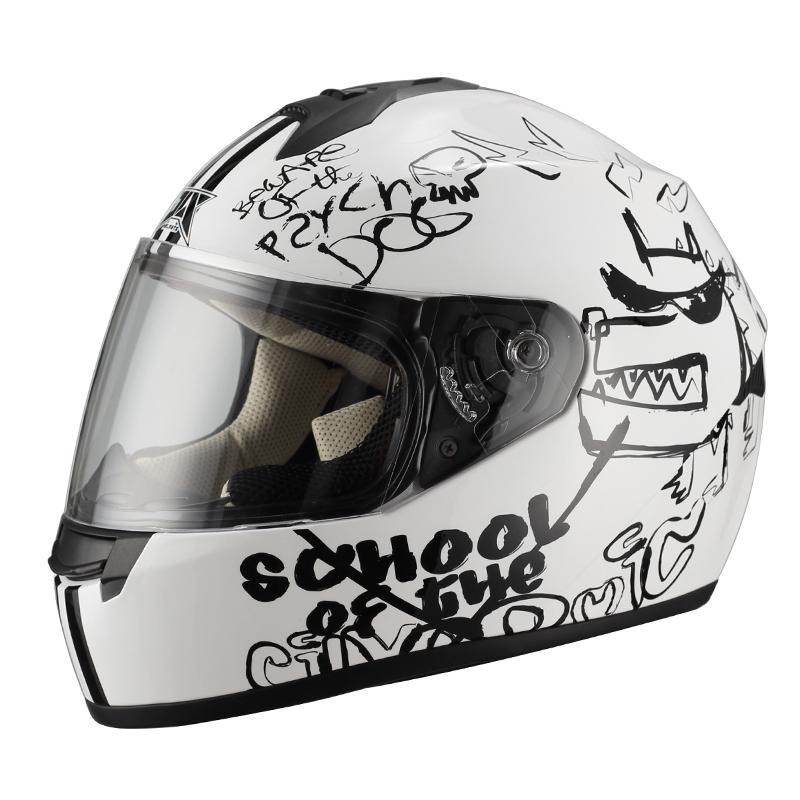 JIX - FF006 capacete moto decal casque moto cheap full face mask helmet
