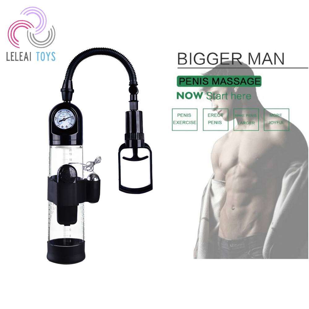 Hot Amazon man sex no side effect barometer free penis pump with a vibrating bullet