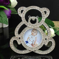 Diamond mini photo frame,baby&kids photo frame, bear shape funny photo frame special gifts for lovely baby picture