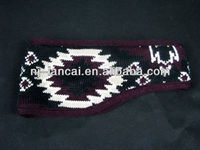 new fairisle knitted and jacquard trapper headband with fleece lined