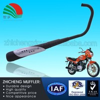 Black 125CC Universal Motorcycle Types of Muffler with Durable Frame