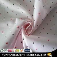 2016 wholesale cheap CVC fabric for garment with printed small dots