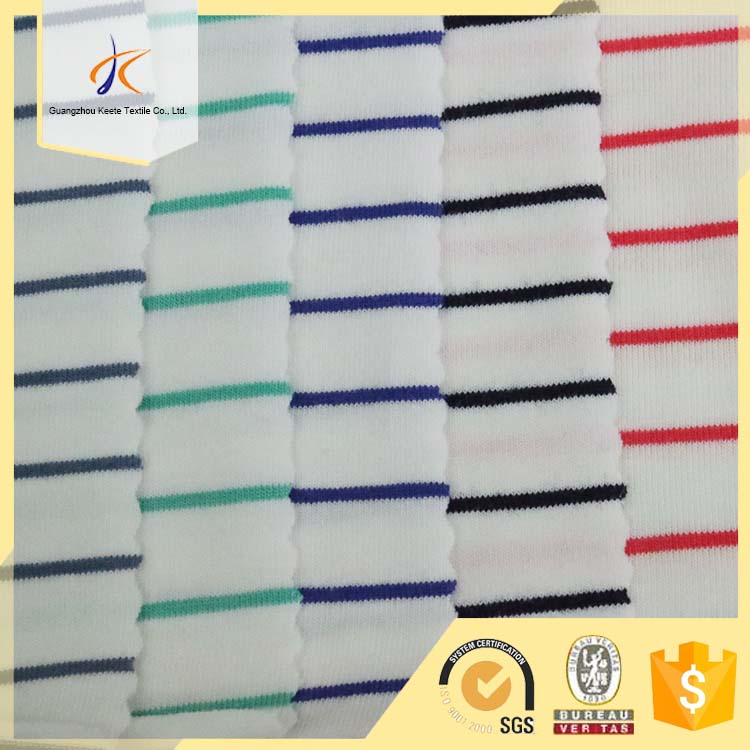 100 cotton jersey knitting stripe design printed fabrics wholesale