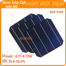 4BB 19.4-19.5% High Efficiency 4.71-4.73w A Grade Cheap 6x6 Monocrystalline Solar Cell for sale