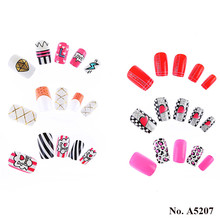 A5207 Hot Selling Elegant Artificial Fancy Nails Salon False Nails Tips