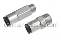 rih & yongrui fitting PC single closed fast joint connector pneumatic fitting