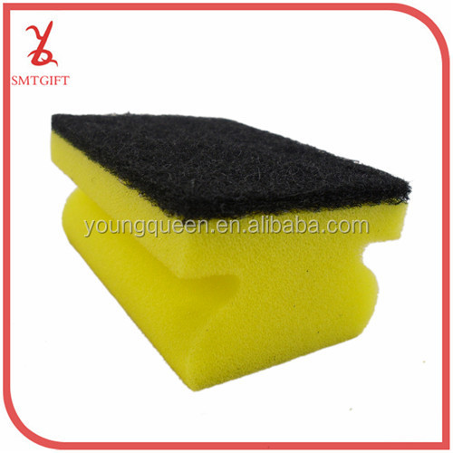 QJB05 -density-shaped kitchen sponge scouring pad sponge wash sponge brush block / sponge scouring cloth /cleaning cloth