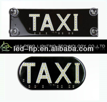 Taxi Roof Light with Battery LED Taxi Top Light Signal Light