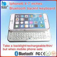Mini Bluetooth Wireless Keyboard Case For Iphone 6 Wireless Sideslip Keyboard With CE ROHS Certificate VMK-27