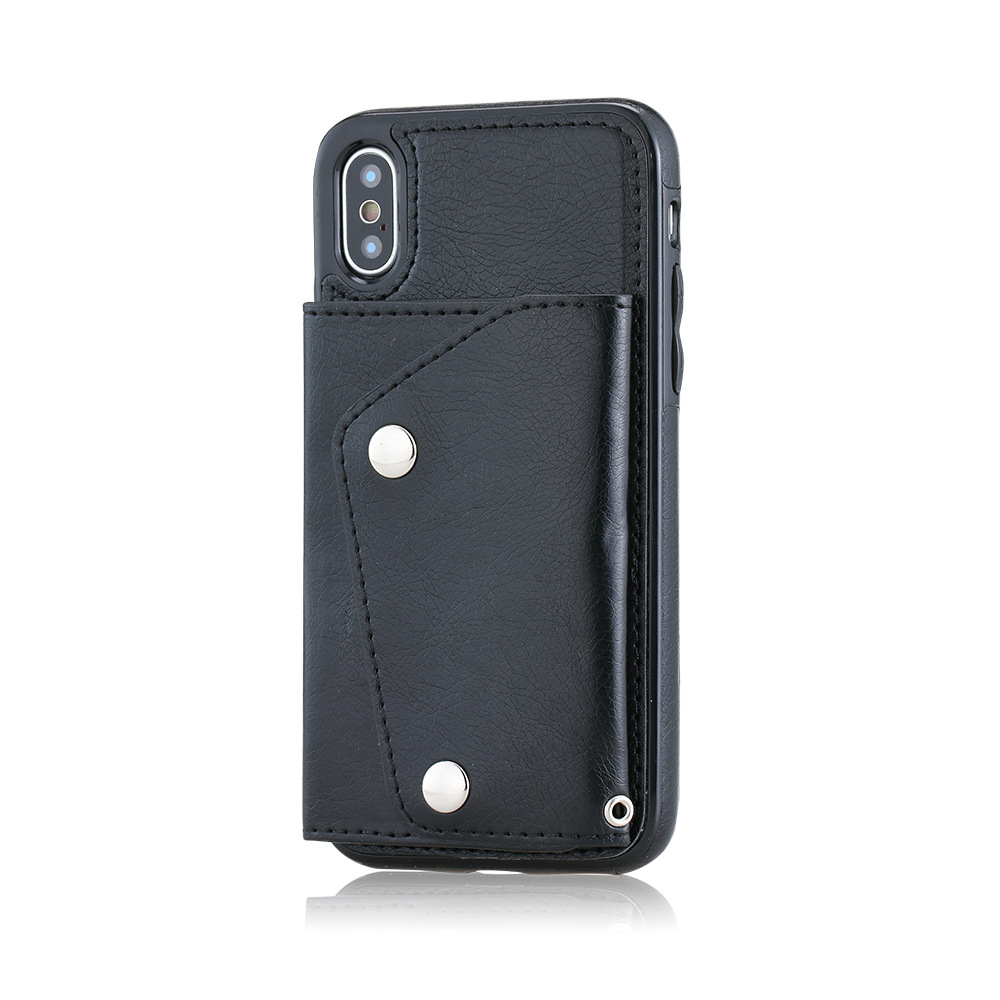 Pu Leather Wallet Cases for iphone xs ID Credit Debit Card Slot Holders Design Stand Feature Back Flip Cover <strong>Protective</strong>