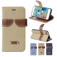 Wholesale flip stand leather cell phone case for iphone 6 plus mobile case
