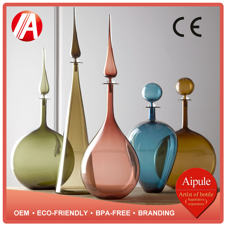wholesale Colored modern crystal glass vase for home decoration