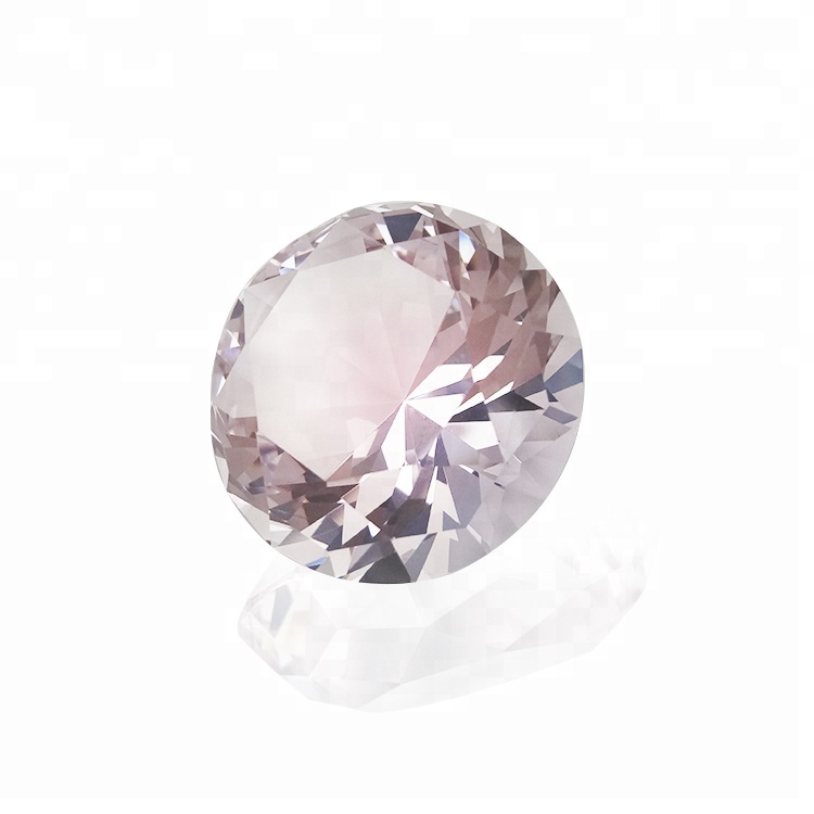 10/pcsFree High Quality Desk Paperweight Wholesale Pink Diamond <strong>Crystal</strong> For Wedding Bridal Shower Gifts