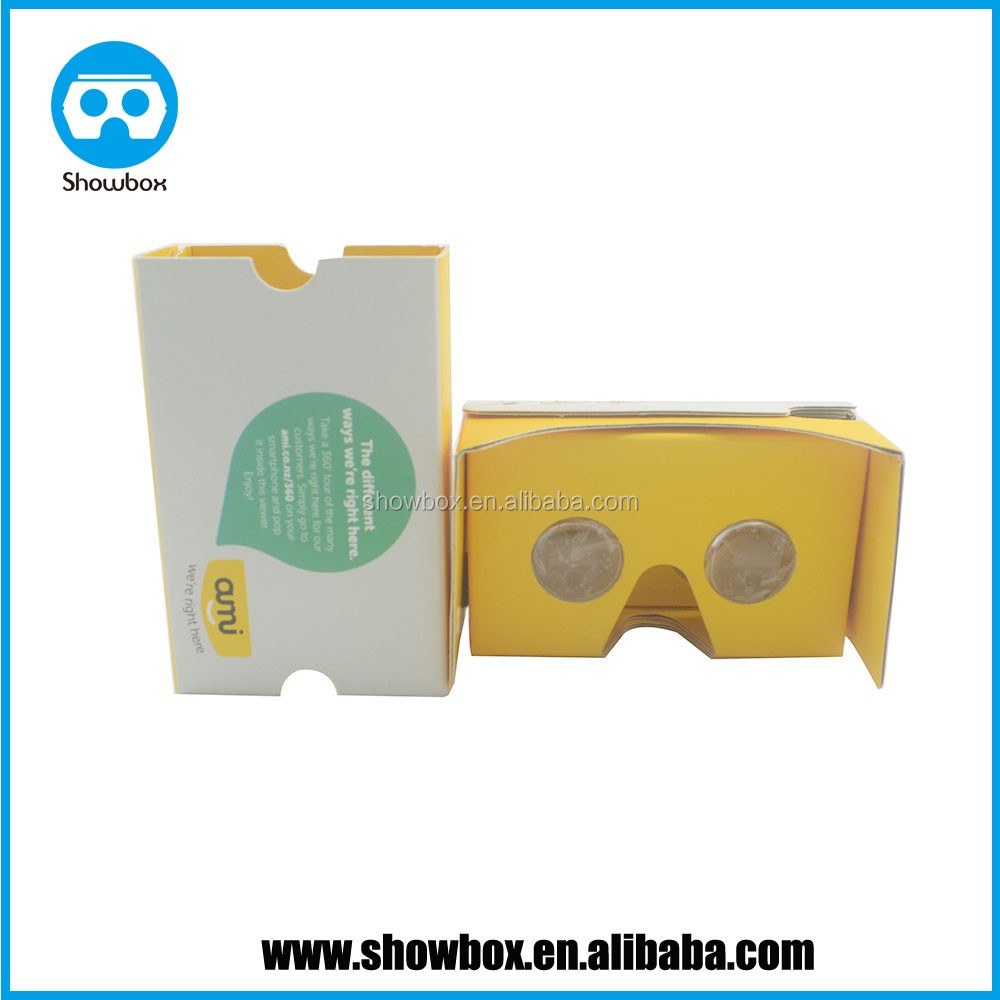 2017 high quality google cardboard v2 3d glasses branded logo printing