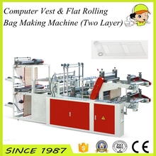 Two layer Computer Vest & Flat Rolling Bag Making Machine