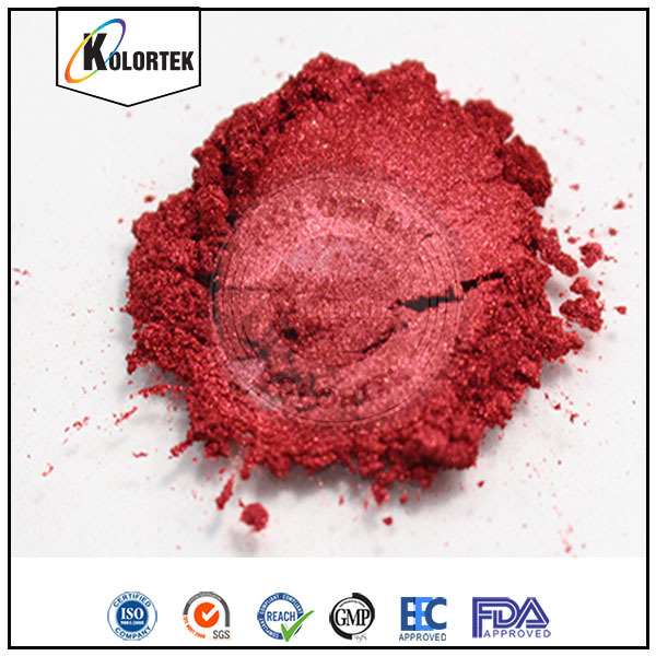 Cosmetic Grade Synthetic Mica Pigment, Blood Red Pearlescent Pigment China Supplier