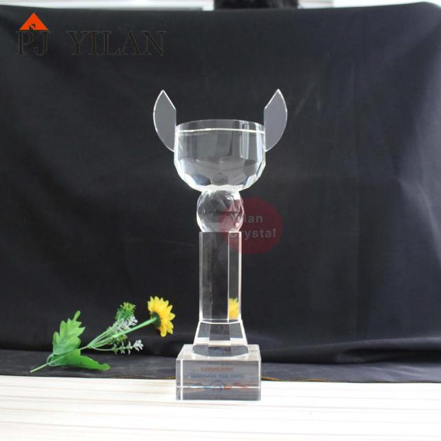400MM big crystal cup trophy crystal trophy plaque crystal blank trophy
