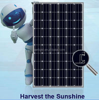 250W PV Solar panel mono black on grid off grid aluminium frame black Module Germany technology