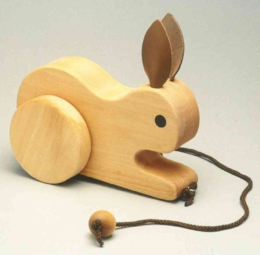Wooden Toys Product : New design handmade natural wooden rabbit toys wholesale
