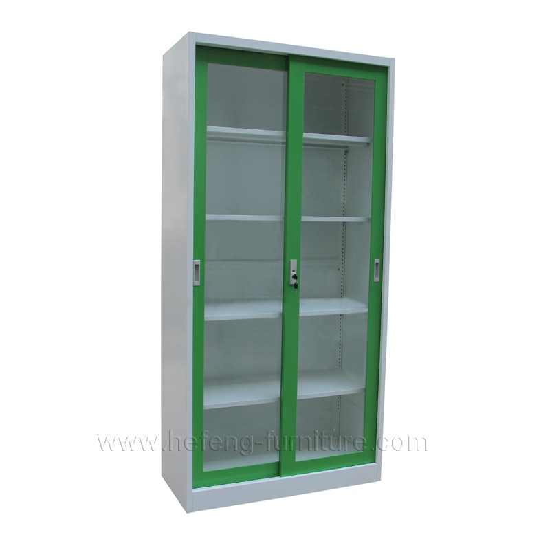 Cheap Glass Doors Cupboard Metal Sliding Door File Cabinets