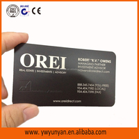 85*54mm matt black brushed stainless steel metal business card