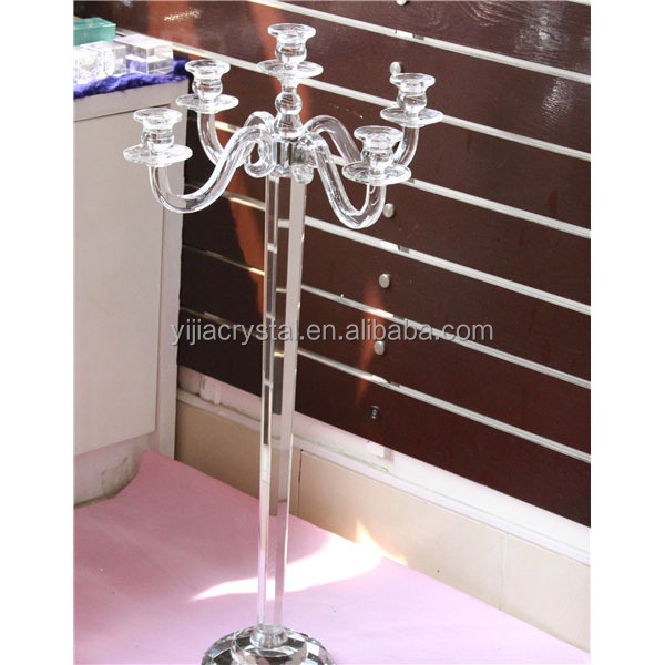 fashionable nice looking tall crystal candle holder