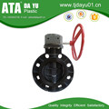 Tianjin Valves Wafer Butterfly Valve UPVC, Universal Flange Connection, Worm Gear