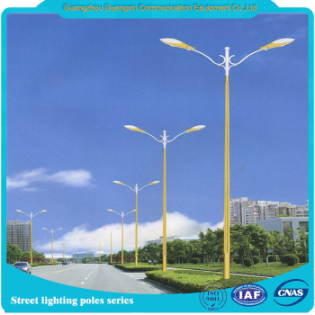5-12meters single or double arm solar power energy street light pole