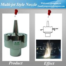 Stainless Steel Multi-jet Style Water Spray Nozzle For Water Fountain 1''