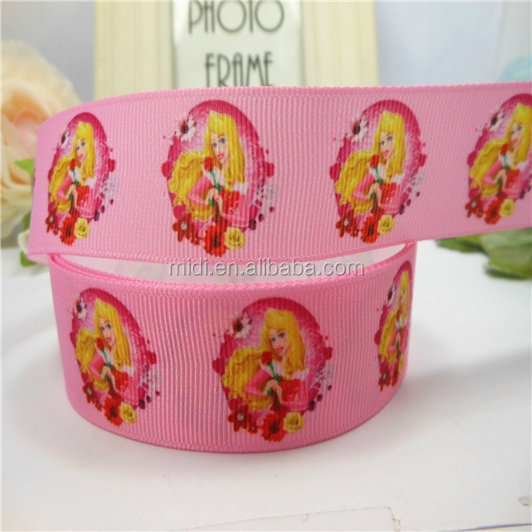 gold hair pretty girl with rose flower polyester webbing grosgrain ribbon