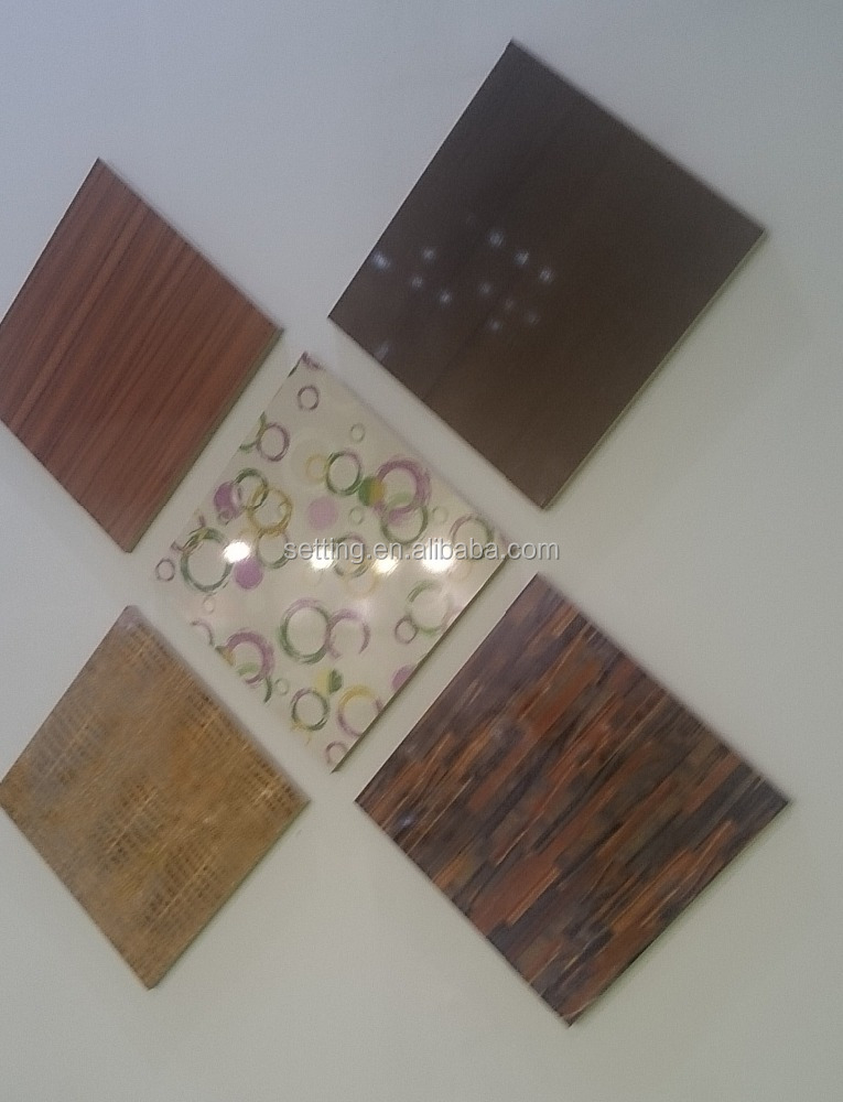 High Glossy UV MDF Board/ Sheet--Flower Design Series ( one side white melamine color,Size : 1220*2440 mm 1220*2800mm