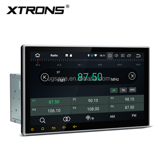 "XTRONS TE103AP 10.1"" 1024X600 universal 2 din Android 8.0 audio car with BT/DVD/VCD/CD/MP4/MP3/AM/FM, dvd gps car"
