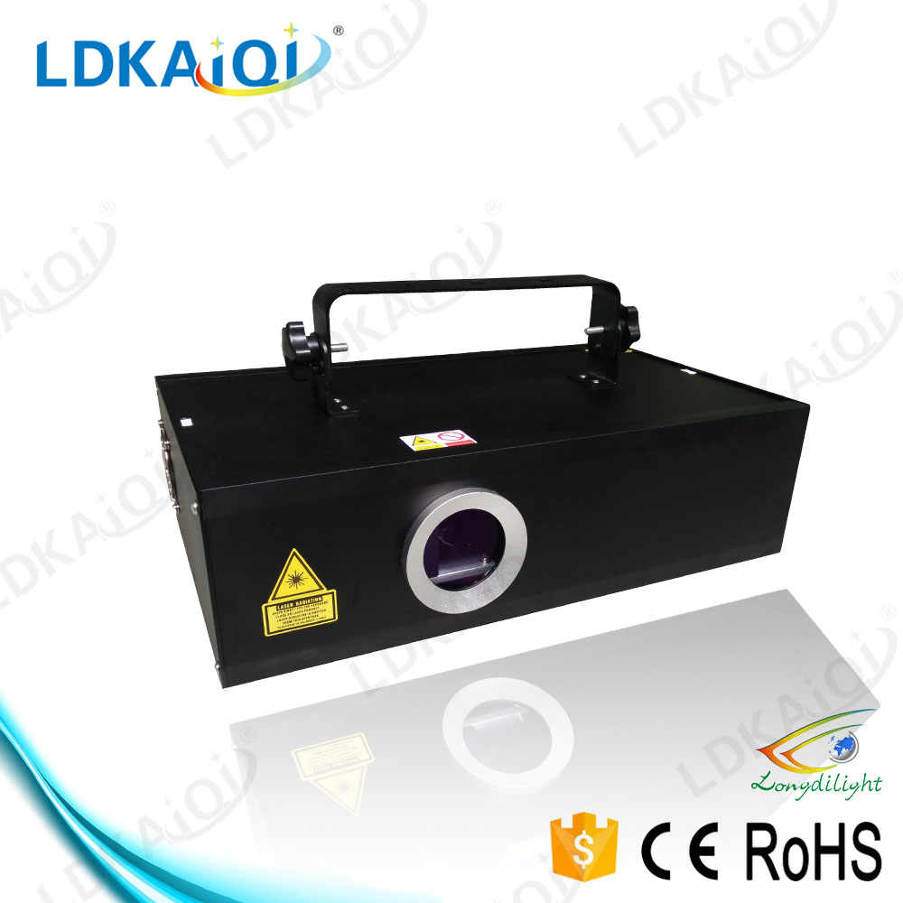 lights 2000mw laser Rgb full color laser projector animation writing laser light with ilda