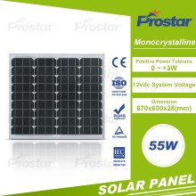 thin film 55W mono photovoltaic panel or cell manufactures