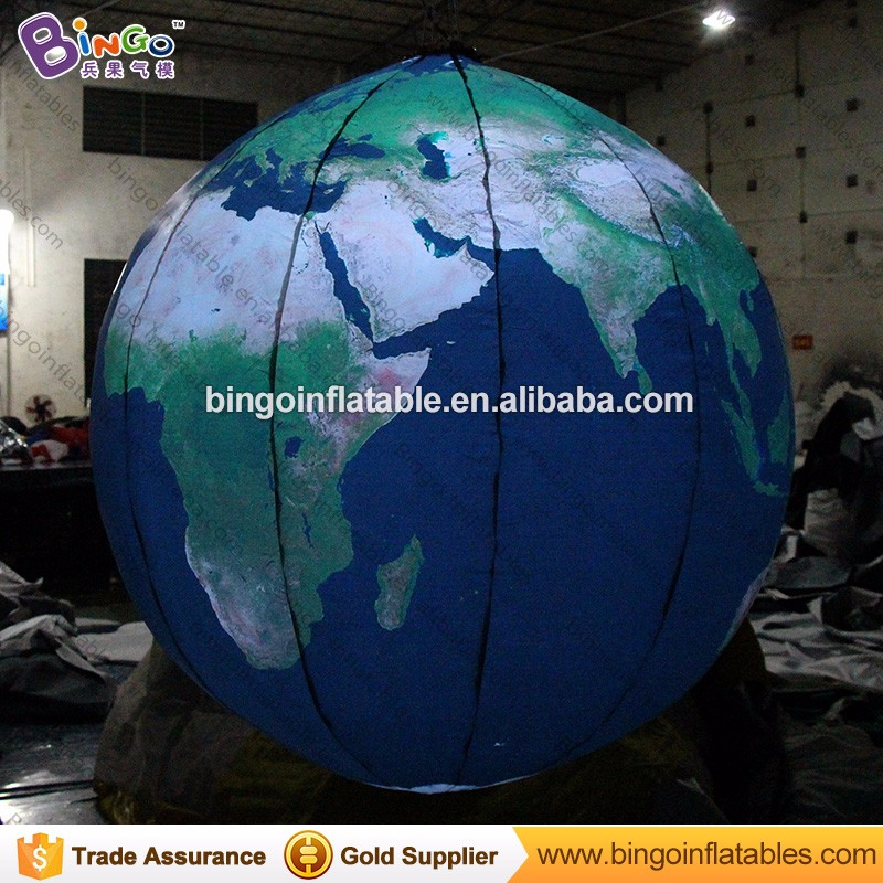 Hanging decoration inflatable Light earth globe balloon for sale