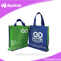 Customized colourful folding and zipper non-woven shopping bag