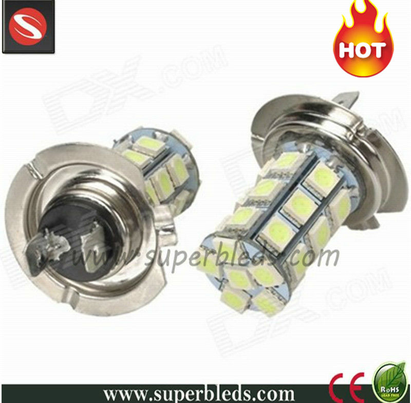 12 volt automotive H7 socket 5050 27smd fog led lights