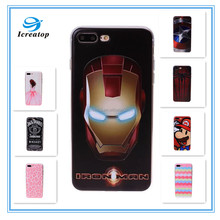 Hot ! High quality 3D TPU phone case for iphone7, Transparent case slim mobile cover For iphone7/7plus