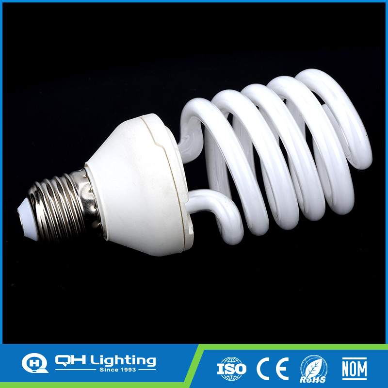 Half spiral 7mm D50 5T 25w led energy saving cfl light bulb with price