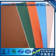Top quality colored decorative embossed hammer / pebble pattern aluminum sheet on sale